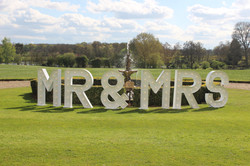 MR & MRS letter hire
