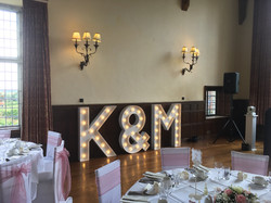 wedding letters @ Layer Marney Tower