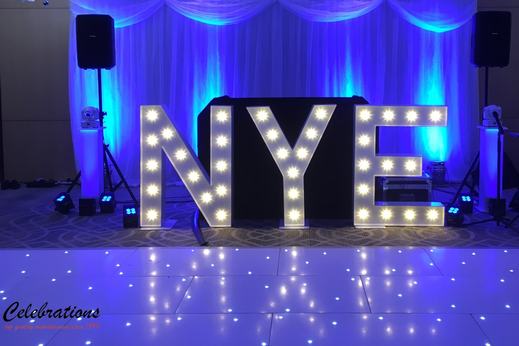 NYE Light Up Letters