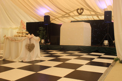 Contrast of colours in marquee