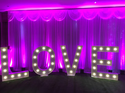 light up wedding backdrop