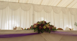 Top Table Backdrop @ Prested Hall