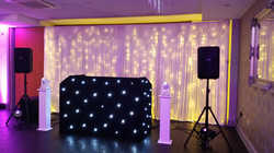 Simple disco setup with backdrop