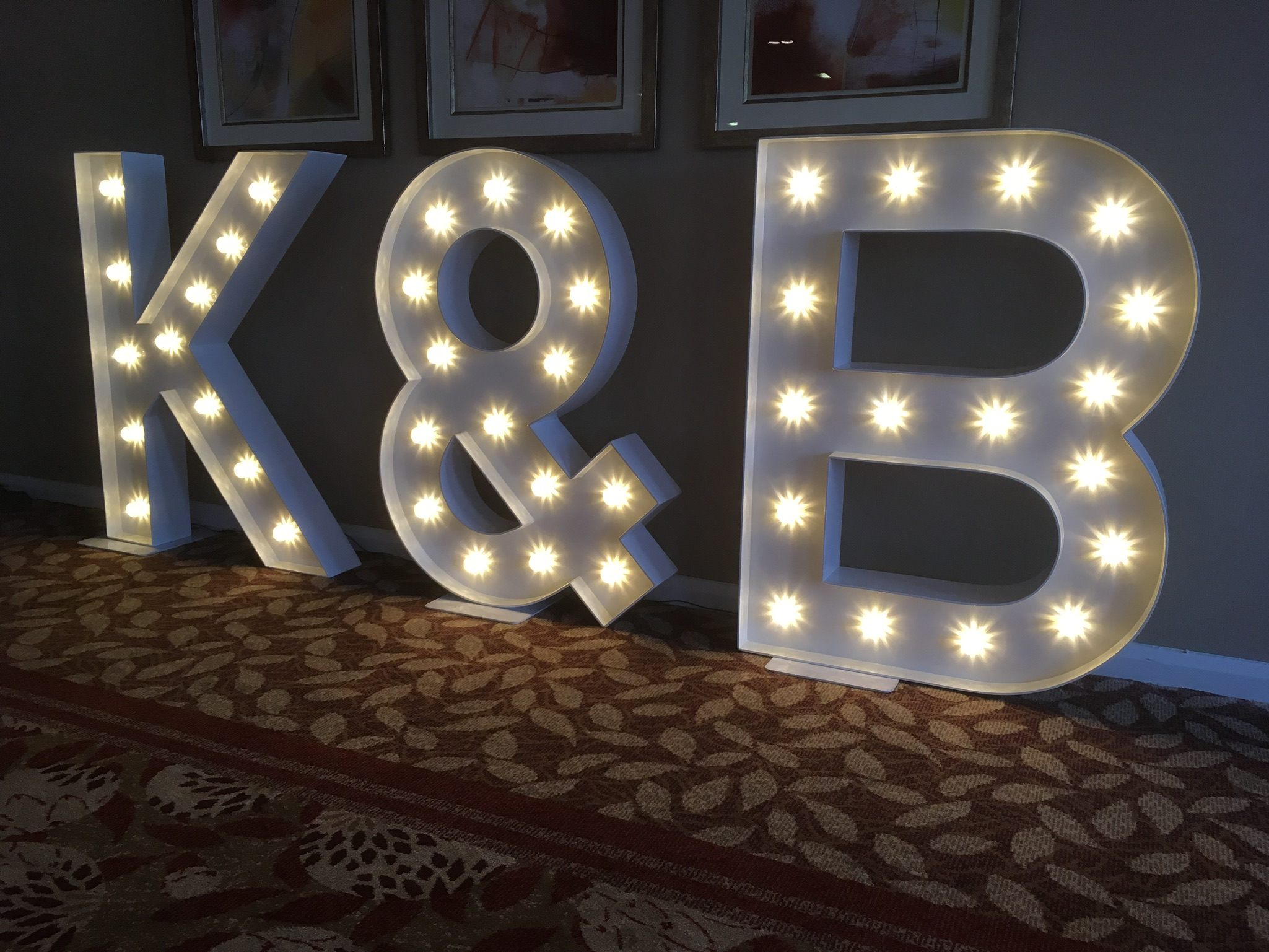wedding initials letter hire