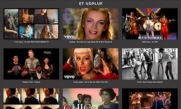 Et billede af flere musikvideoer.
