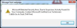 GSS Repair Microsoft Fake Popup example