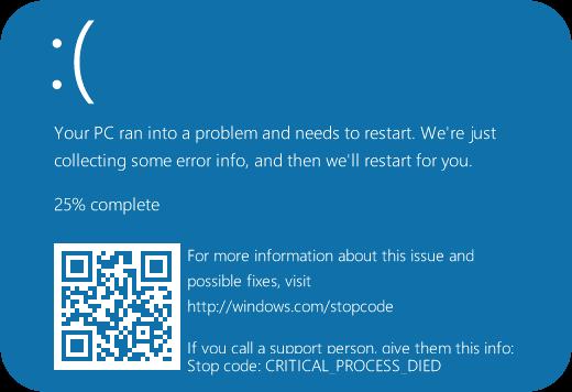 Windows10 Crash with QR Code