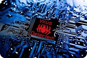Virus-chip-blue