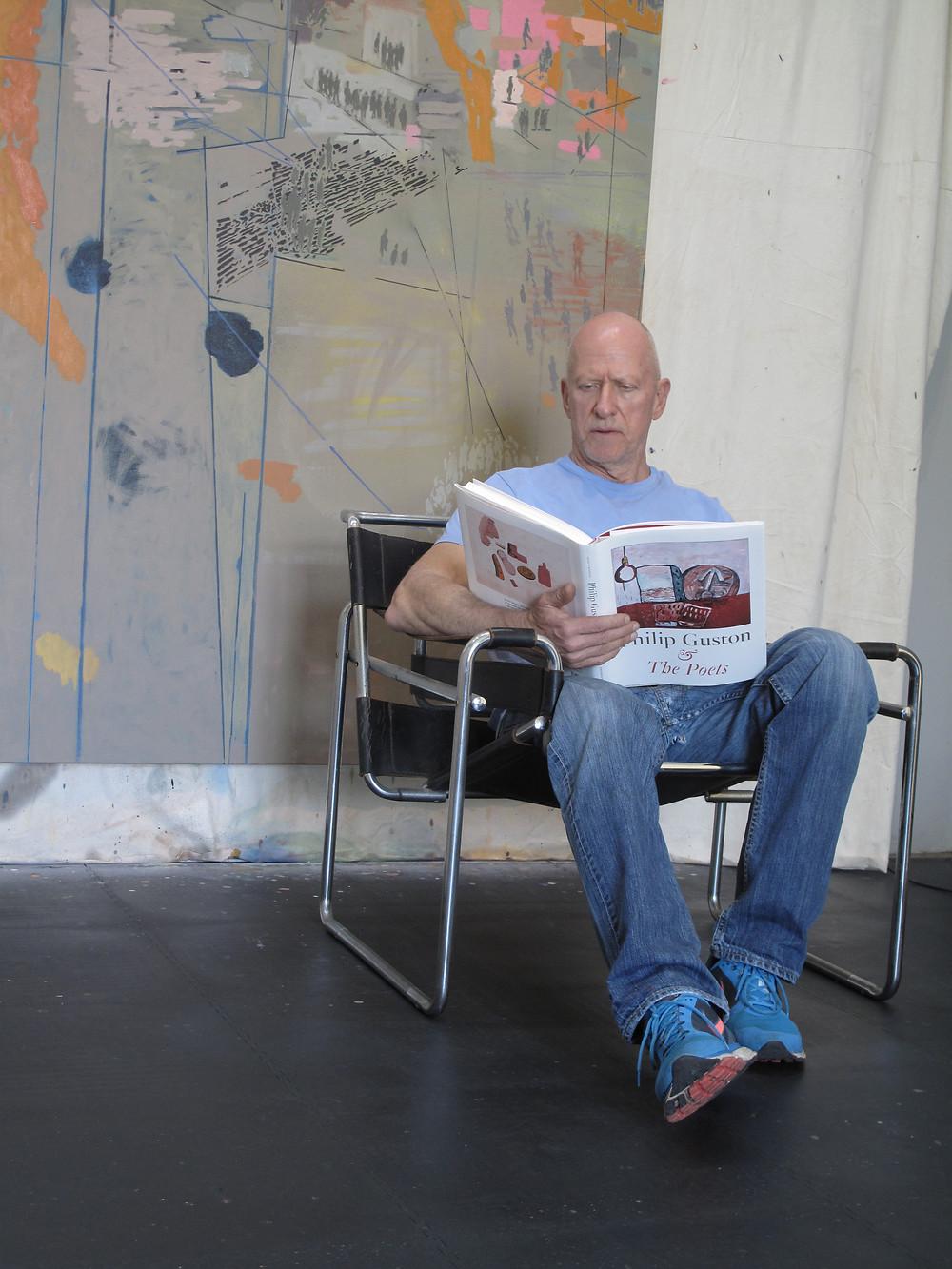 Clive van den Berg in his studio, Johannesburg, 2018