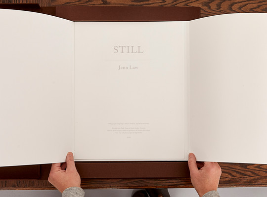 Still installation (artist's book, colophon), 2018