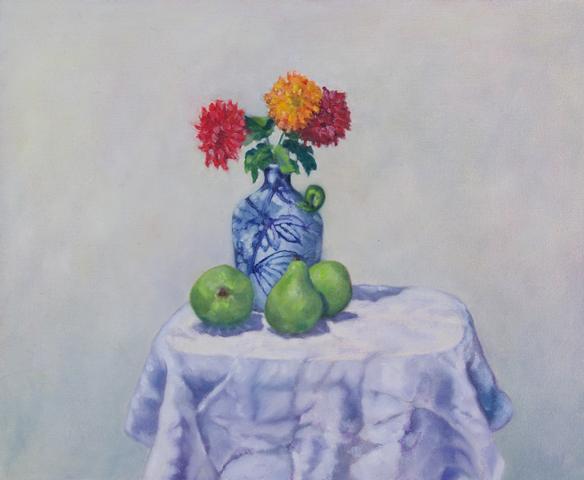 Flowers in Italian Vase