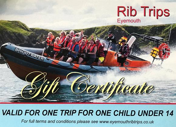 Gift Voucher - 1 child under 14 - Coastal Explorer or Fast Blast