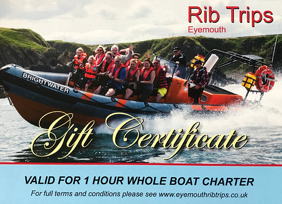 Gift Voucher - 1 hour full boat hire
