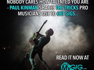 "That's My Gig Article ""Nobody Cares How Talented You Are"" Posted"