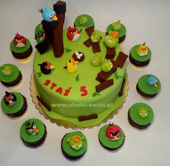 Angry Birds z babeczkami