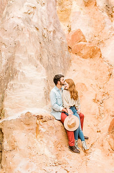 Tyler + Madelyn Engagement in Providence Canyon, GA