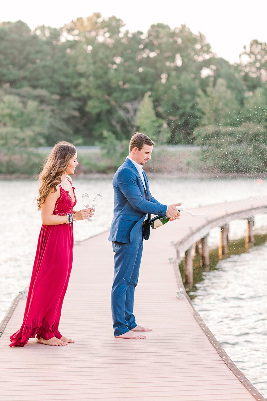 Ben + Mallory Engagement at Children's Harbor on Lake Martin, AL