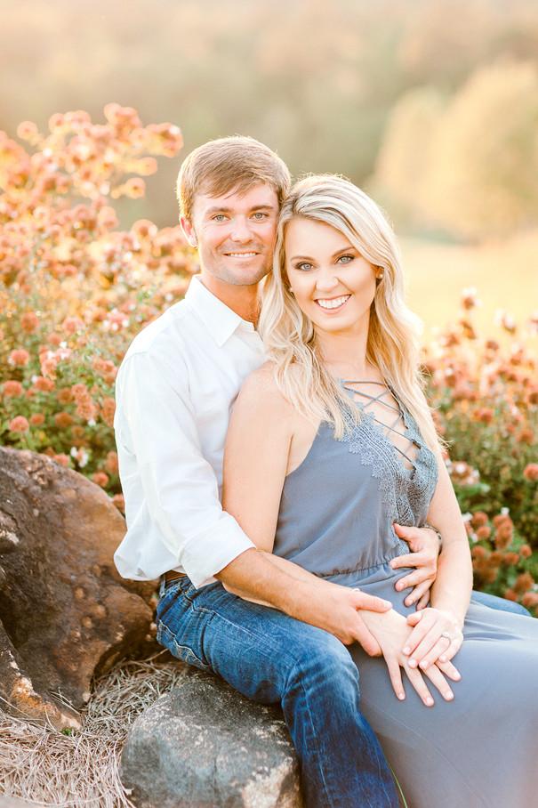 Fall Engagement on Lake Martin, Alabama