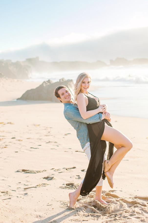 Kyle + Jessica Coastal Engagement at Big Sur, California
