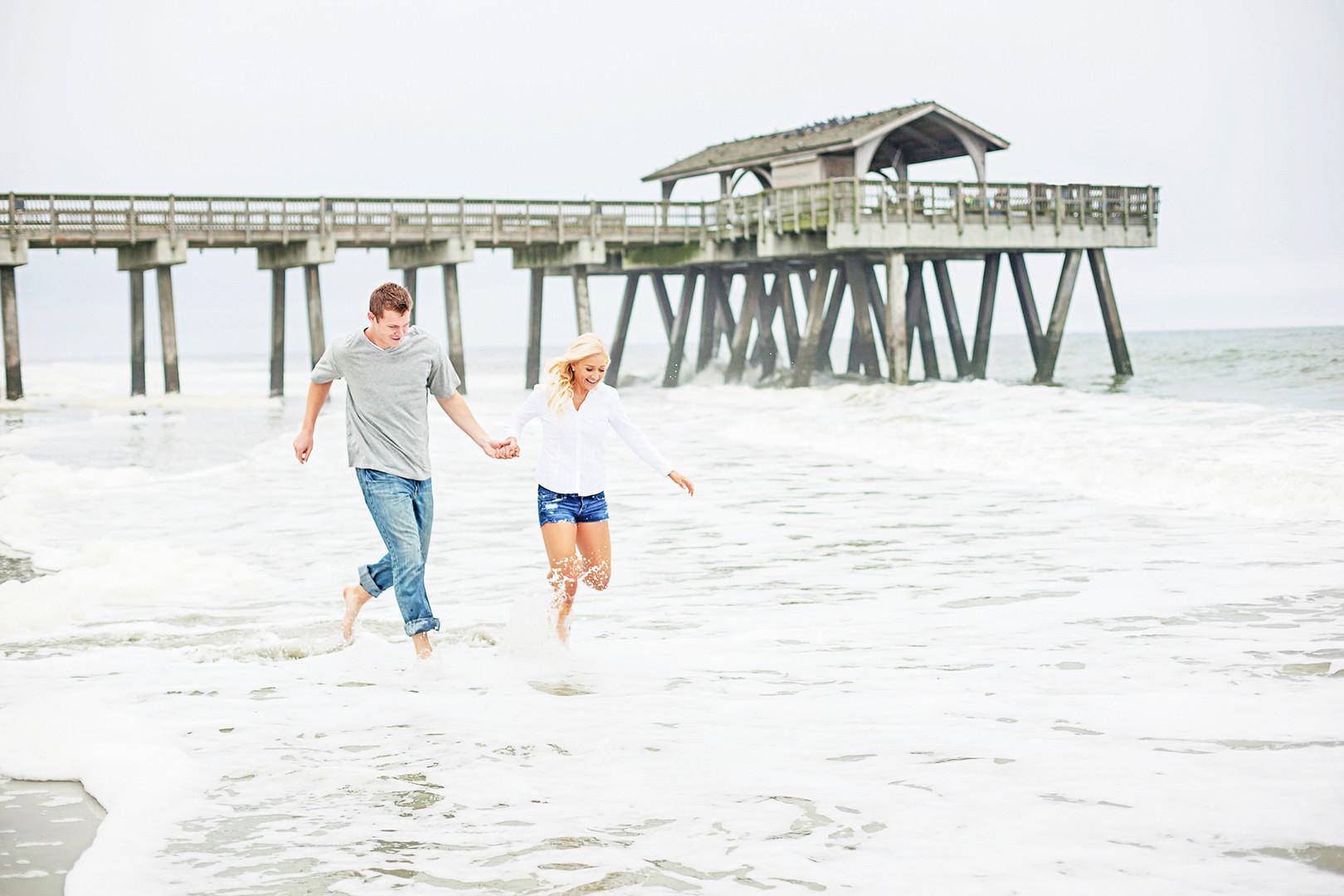 Megan Mullins Photography; Engagement on Tybee Island, Georgia