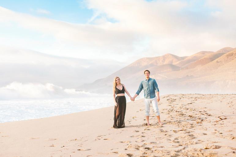 Megan Mullins Photography; Engagement at Big Sur, CA