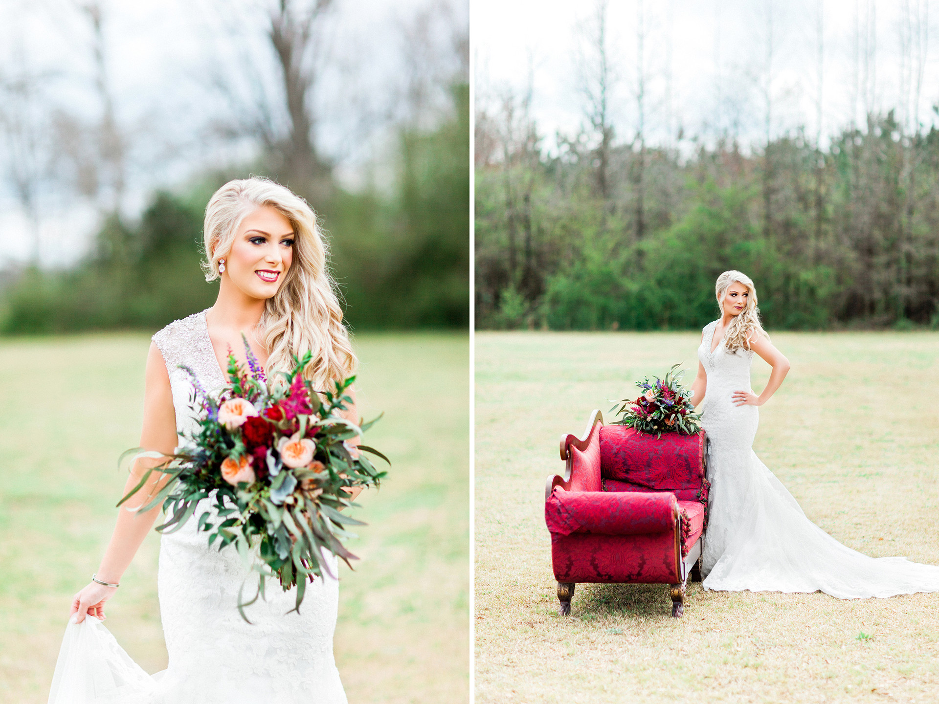 Shabby-Chic Wedding in Alpine, Alabama