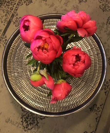 Fleurs sur table Métal