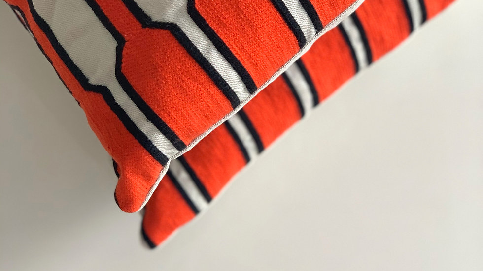 cushion Orange Cabled