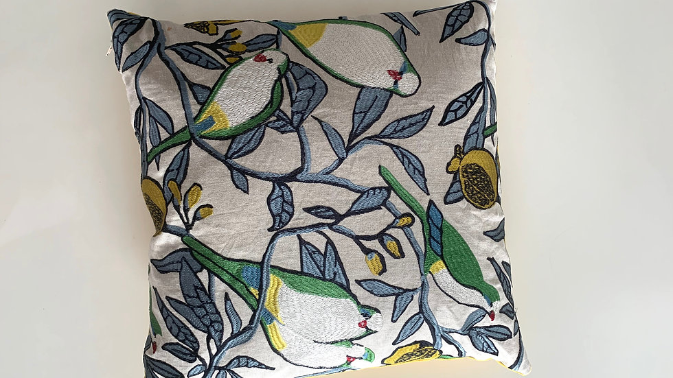 cushion Singing Birds big