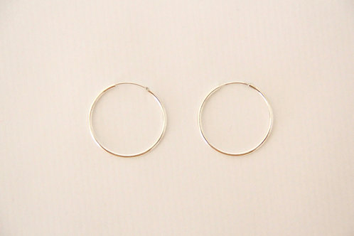 TOU - Silver Hoops Thin