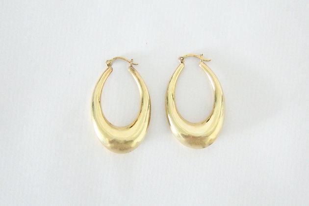 TOU- Golden Hoop Drop L
