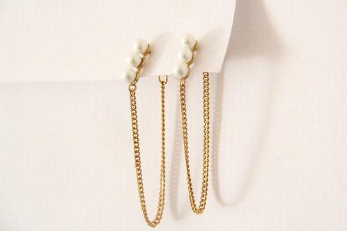 TOU - Drops Three Pearls Gold