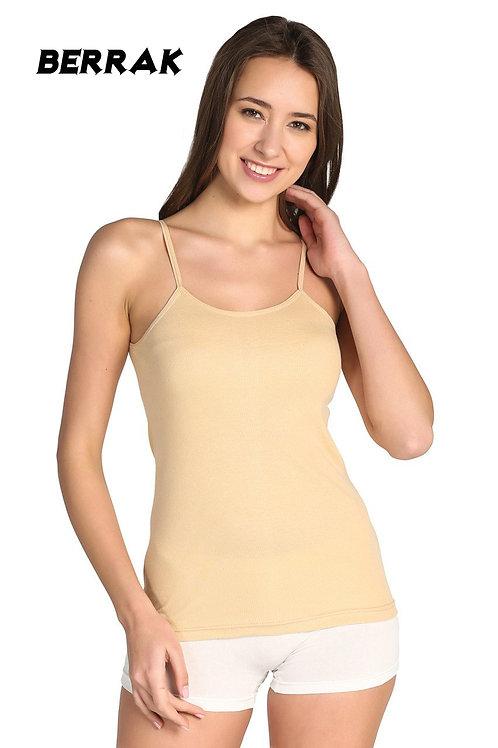 Toptan Berrak ten rengi ip askılı bayan atlet (1 adet)