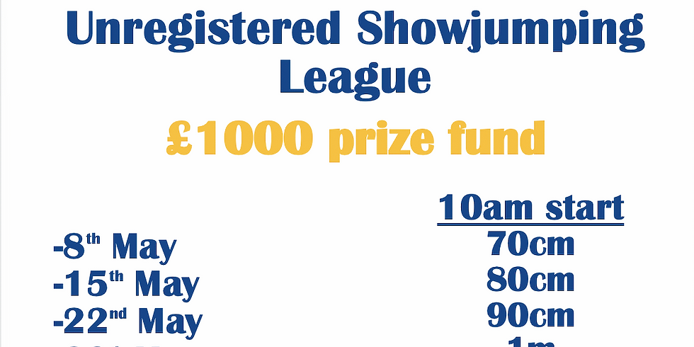 22nd May Unregistered Showjumping League