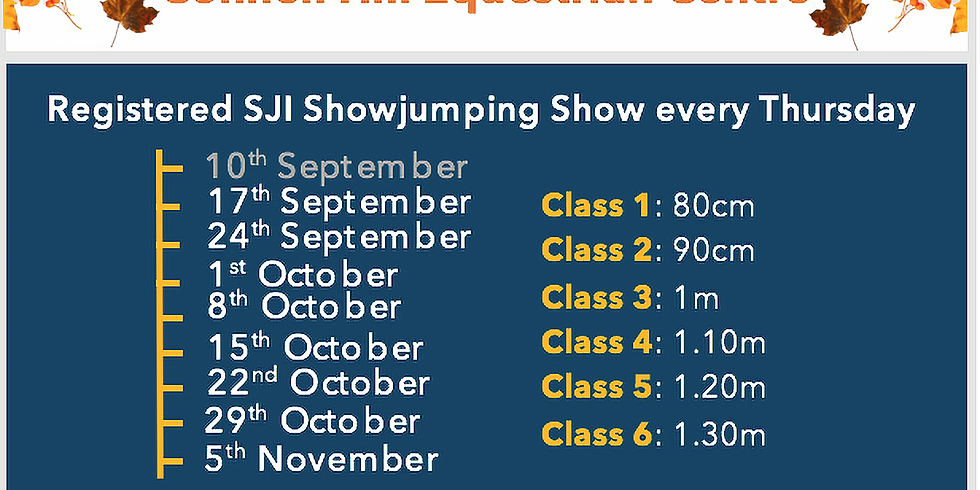 24th September SJI Autumn Horse League