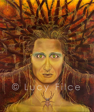 Visionary oil painting, Mother Earth painting