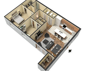 Apartments at Legacy 2 Bedroom Layout