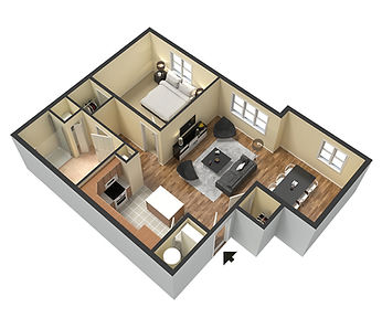 Apartments at Legacy 1 Bedroom Layout 820 sq ft