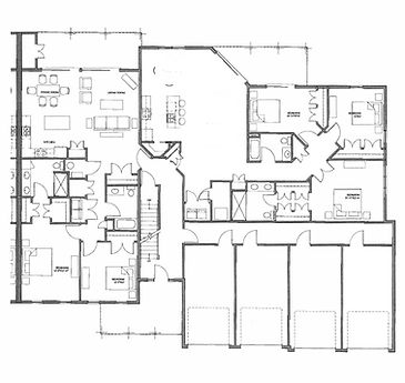 Legacy Condo 1st Floor Right Side Floor Plan
