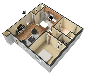 Apartments at Legacy 1 Bedroom Layout 650-710 sq ft