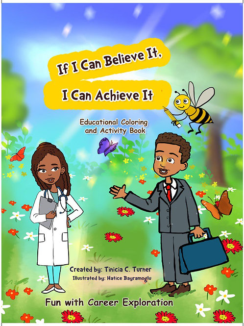 Career Exploration Coloring Activity Book