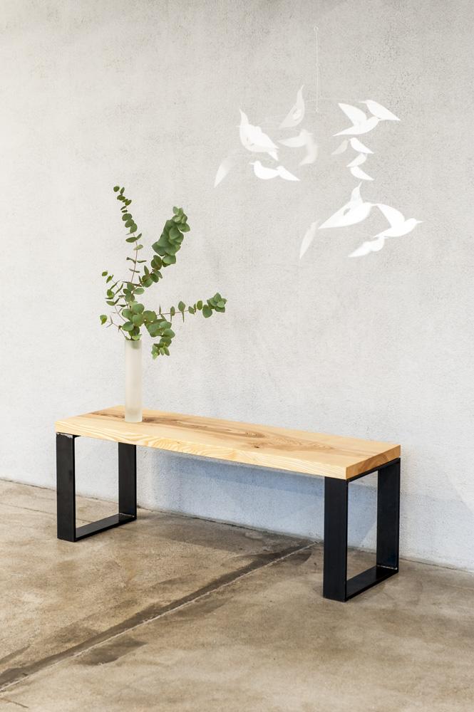 Designer-Sitzbank-Holz