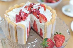 Erdbeer-Charlotten-Torte