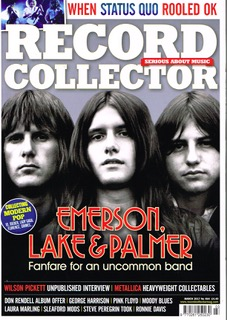 Record Collector March 2017 - ELP Front Cover