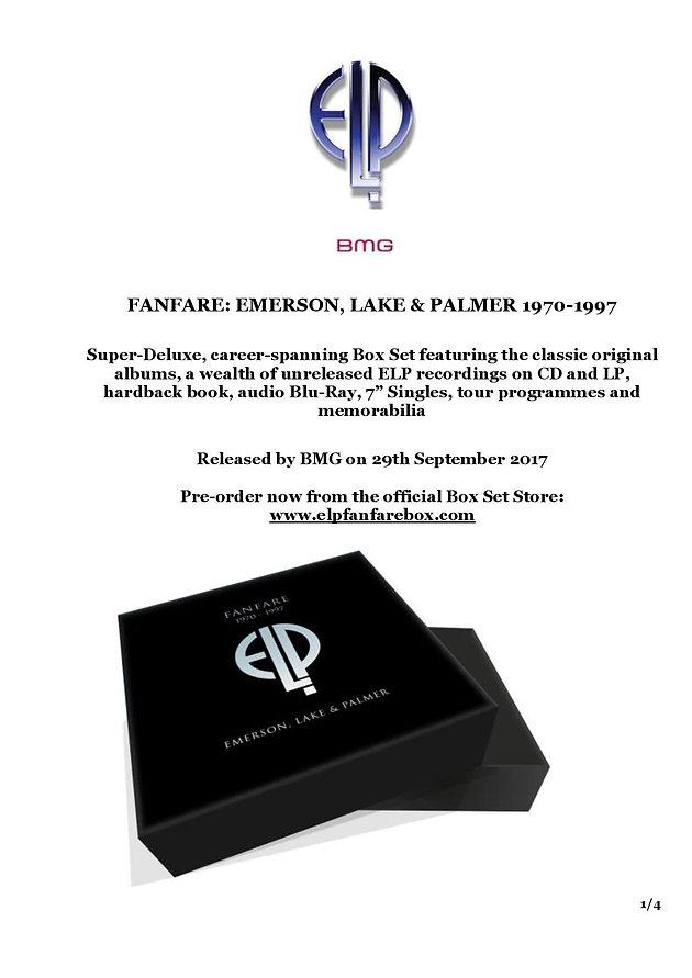 FANFARE: EMERSON, LAKE & PALMER 1970-1997