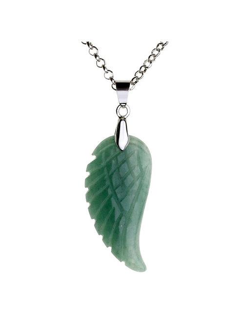 Gemstone Wing Necklace - Jade