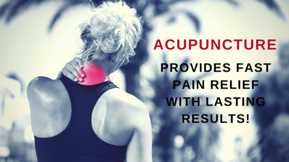 Acupuncture provides long lasting pain relief.