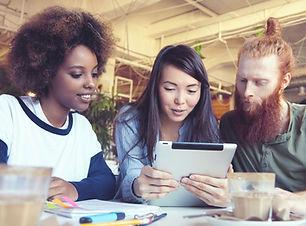 Students with iPad