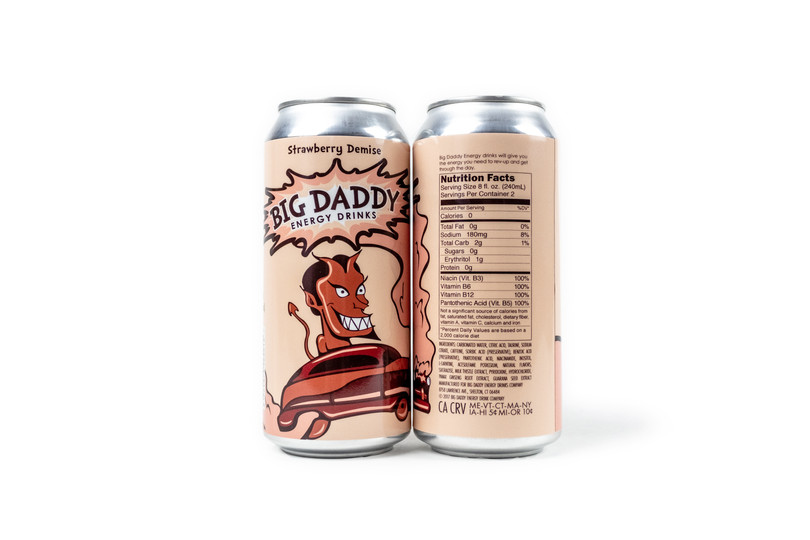 Big Daddy Energy Drinks_Strawberry Demis