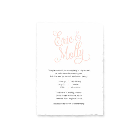 Socks Wedding Stationery